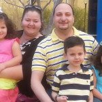 The Belmarrakchi Family. L-R Nayma, Emily, Fouad, Omar, Samira