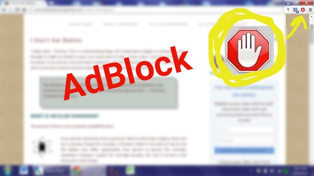How to turn off AdBlock for just one site.