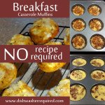 Breakfast casserole muffins - no recipe required!