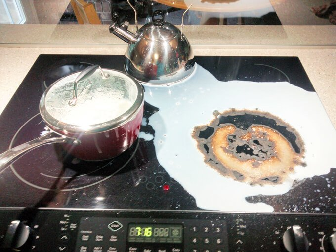 How To Clean Burnt Milk Off A Gl Cooktop Dishwasher Required