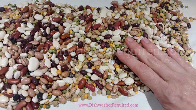 15 bean soup slow cooker recipe - Don't be intimidated by sorting beans. Just spread them on a dishtowel and look over them for anything weird.