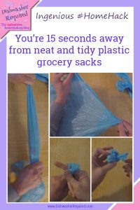 How to keep plastic grocery bags neat and tidy