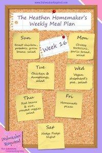 The Heathen Homemaker's Weekly Meal Plan – Week 16