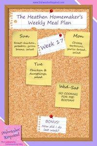 The Heathen Homemaker's Weekly Meal Plan – Week 17
