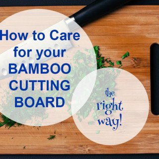 How to care for a bamboo cutting board. It doesn't take much effort to keep your bamboo cutting boards and utensils in tip top shape!