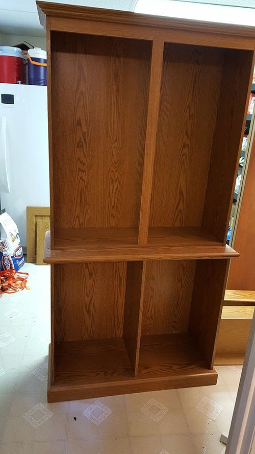 the first step of this project was to remove the doors hardware and shelves this only required a screwdriver and took just a few minutes - China Hutch